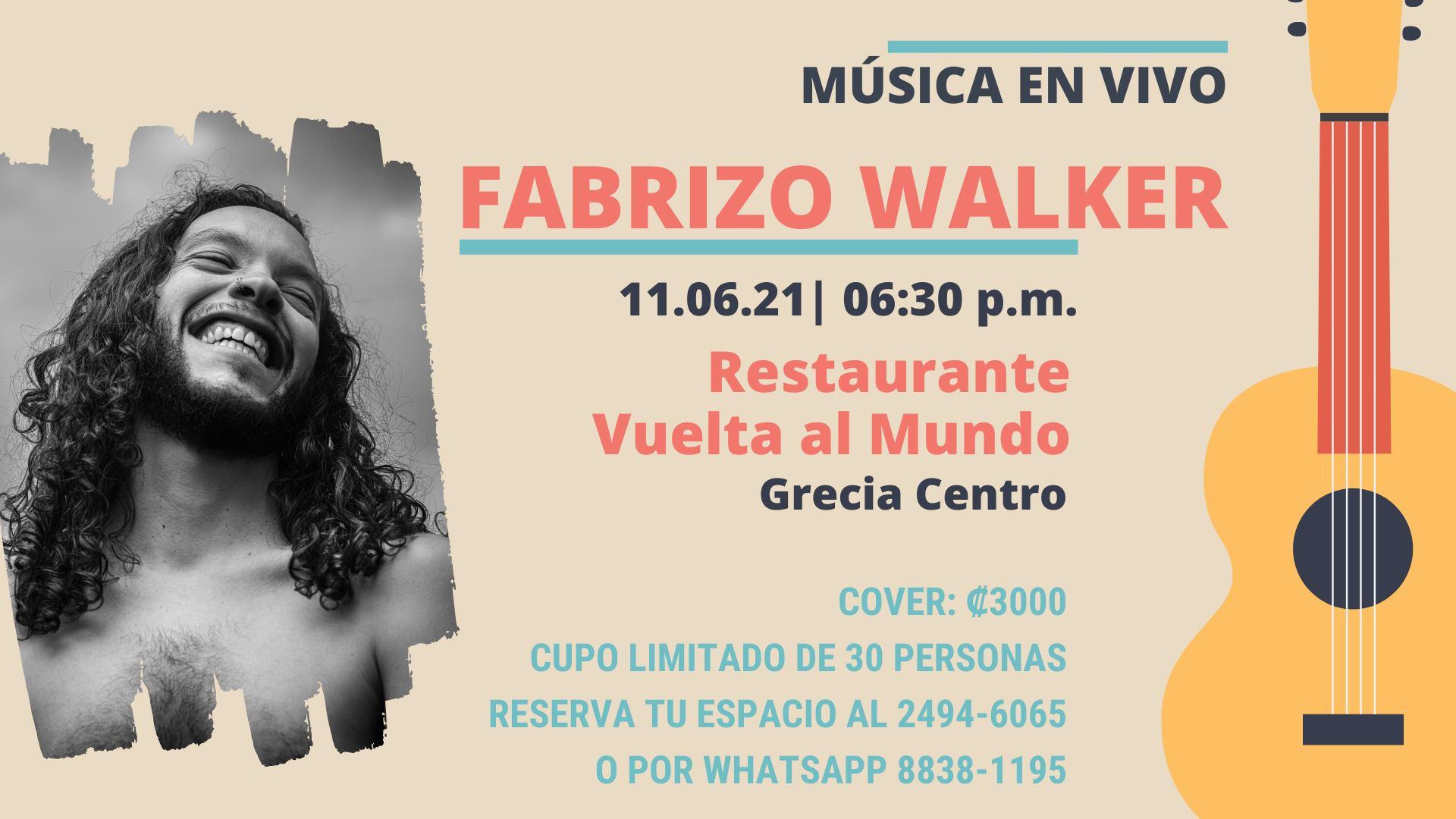 Fabrizio Walker en vivo @Vuelta al Mundo