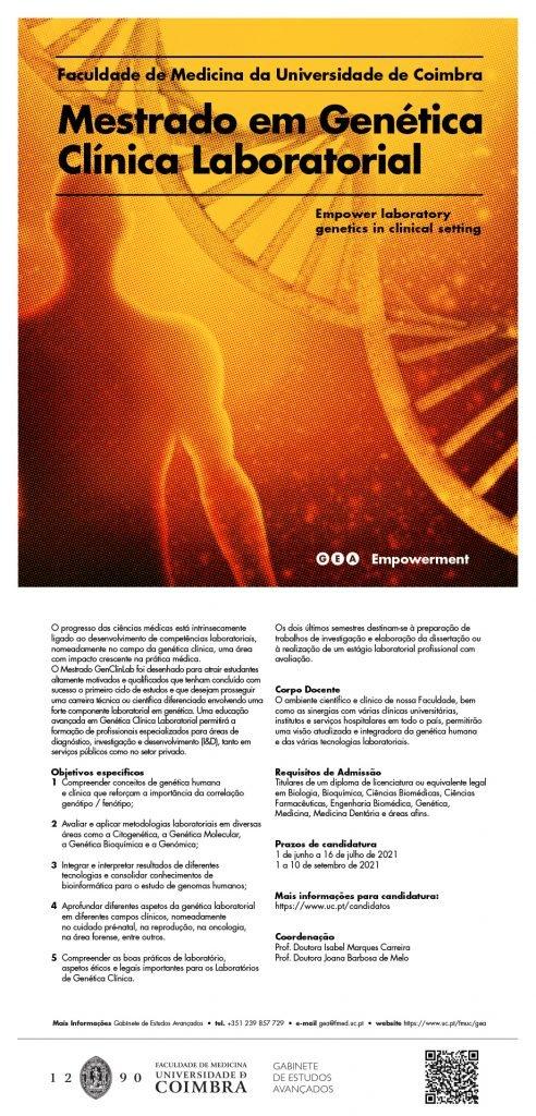 Mestrado em Genética Clínica Laboratorial