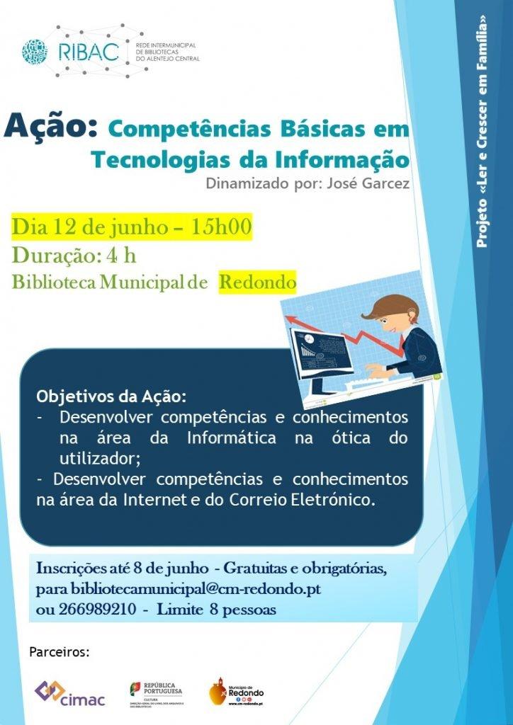 Competências Básicas em TI | 12 junho | 15h00 | Biblioteca Municipal de Redondo
