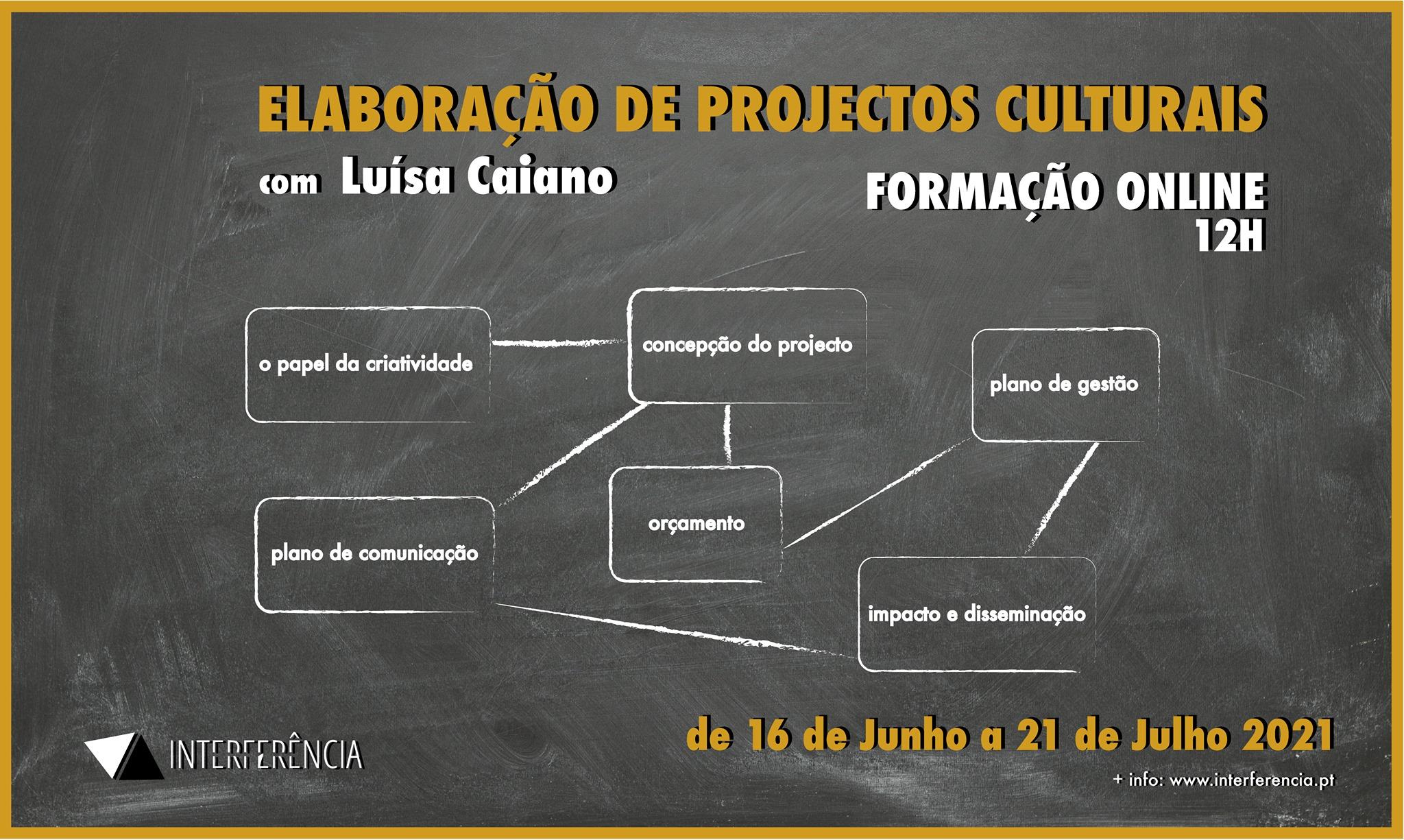 Elaboração de Projectos Culturais com Luisa Caiano - FORMAÇÃO ONLINE 12H