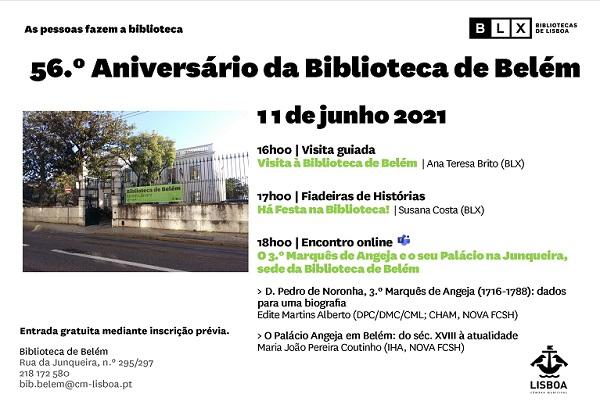 56.º aniversário da Biblioteca de Belém
