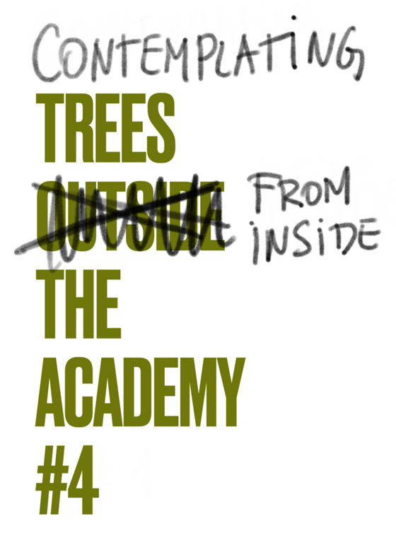 CONTEMPLATING TREES FROM INSIDE DE ACADEMY