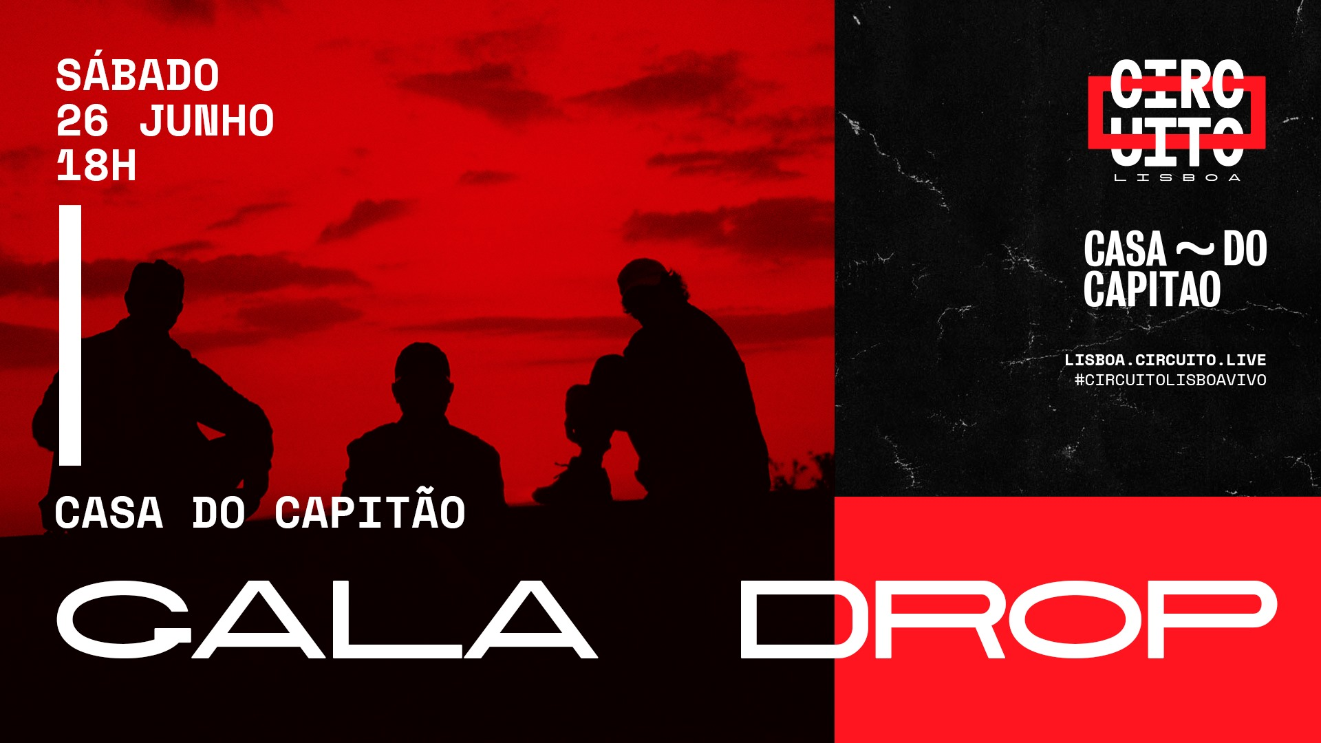 Gala Drop • concerto no terraço   Circuito Lisboa