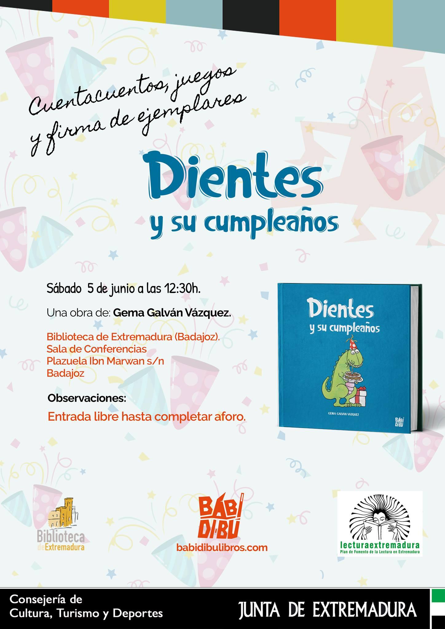 Presentación del cuento DIENTES Y SU CUMPLEAÑOS