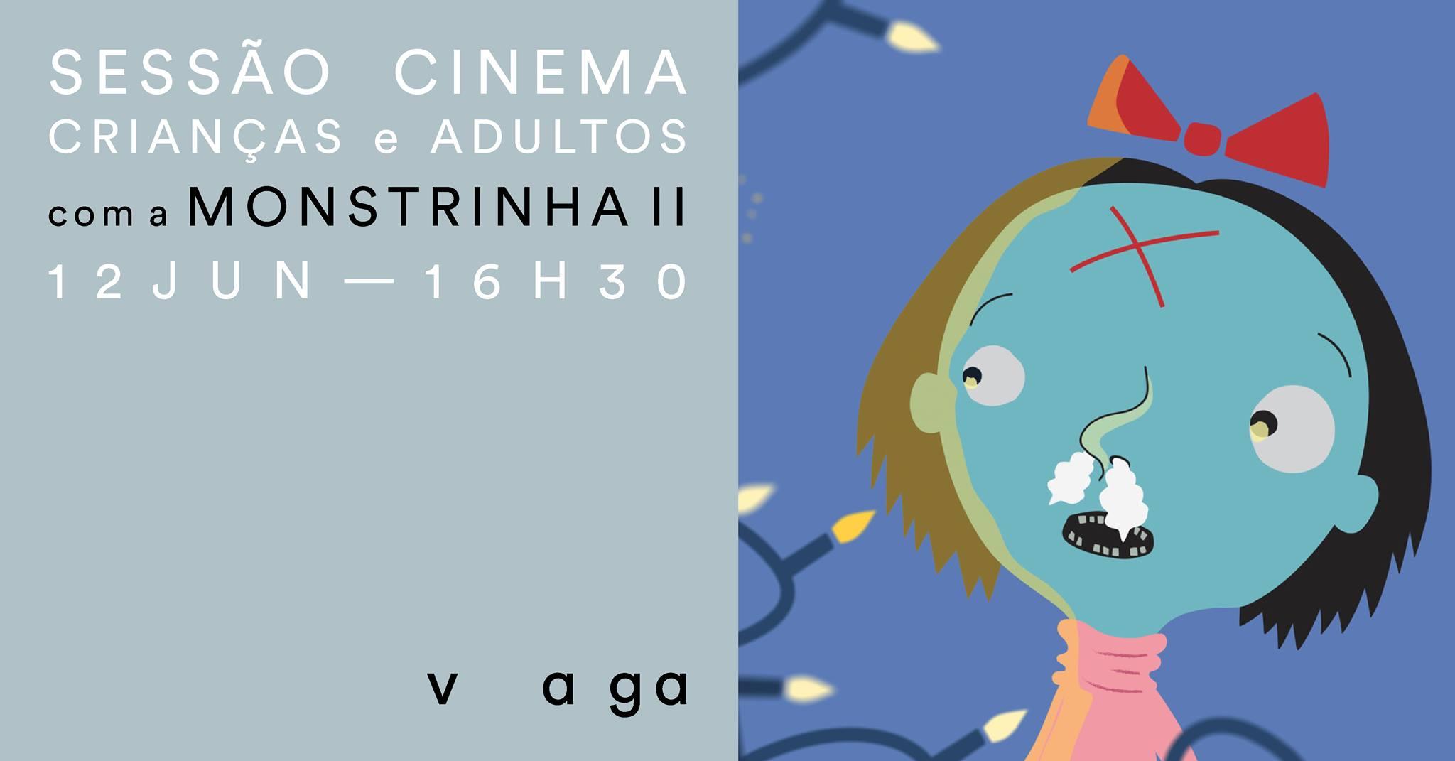 Sessão de cinema para crianças e adultos com a Monstrinha II