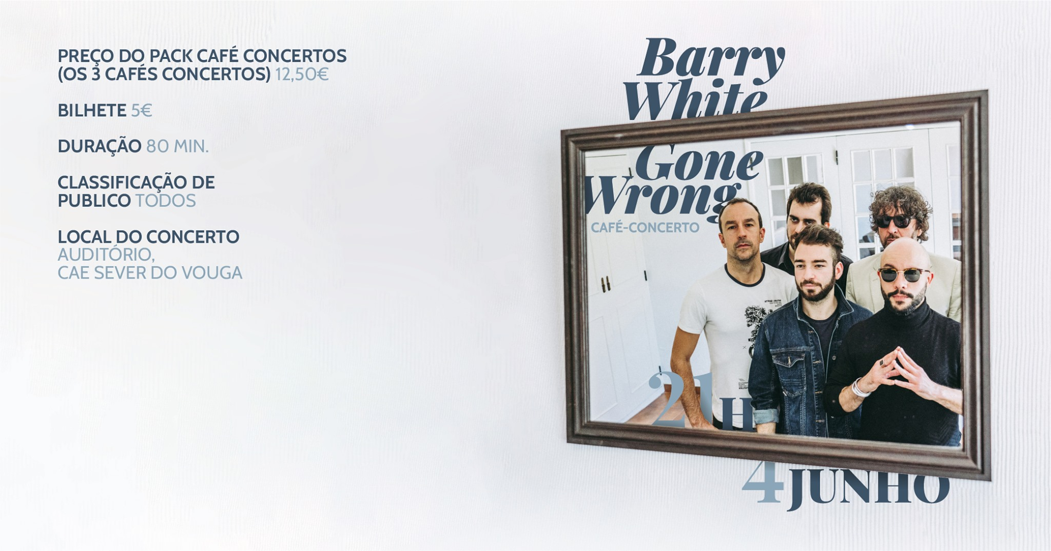 BARRY WHITE GONE WRONG - CAFÉ CONCERTO