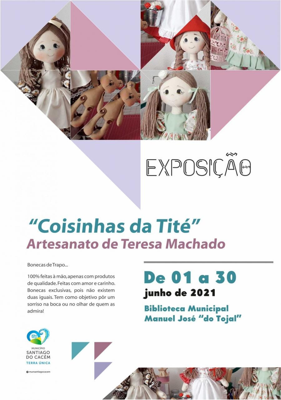 """Exposição de artesanato """"Coisinhas da Tité"""" de Teresa Machado"""