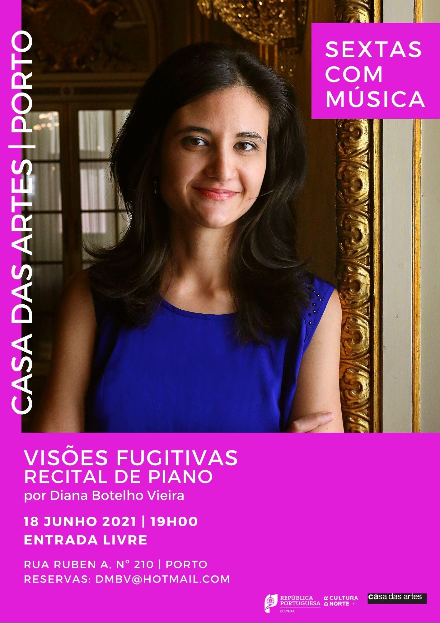Sextas com música - Recital de Piano com Diana Botelho Vieira 'Visões Fugitivas'