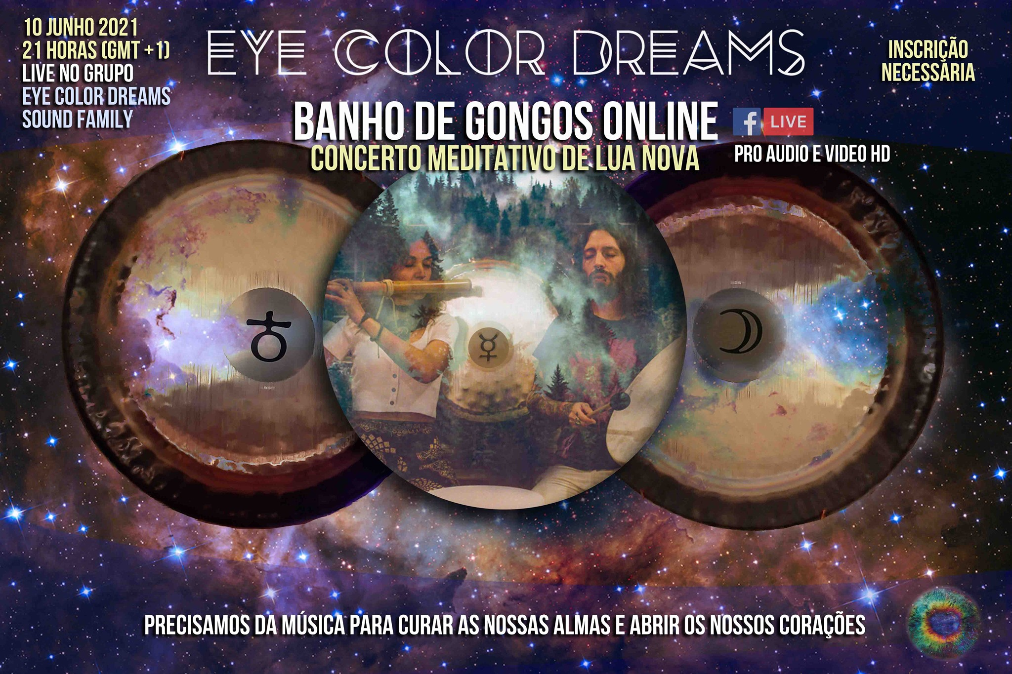 Banho de Gongos Online - Concerto Meditativo de Lua Nova