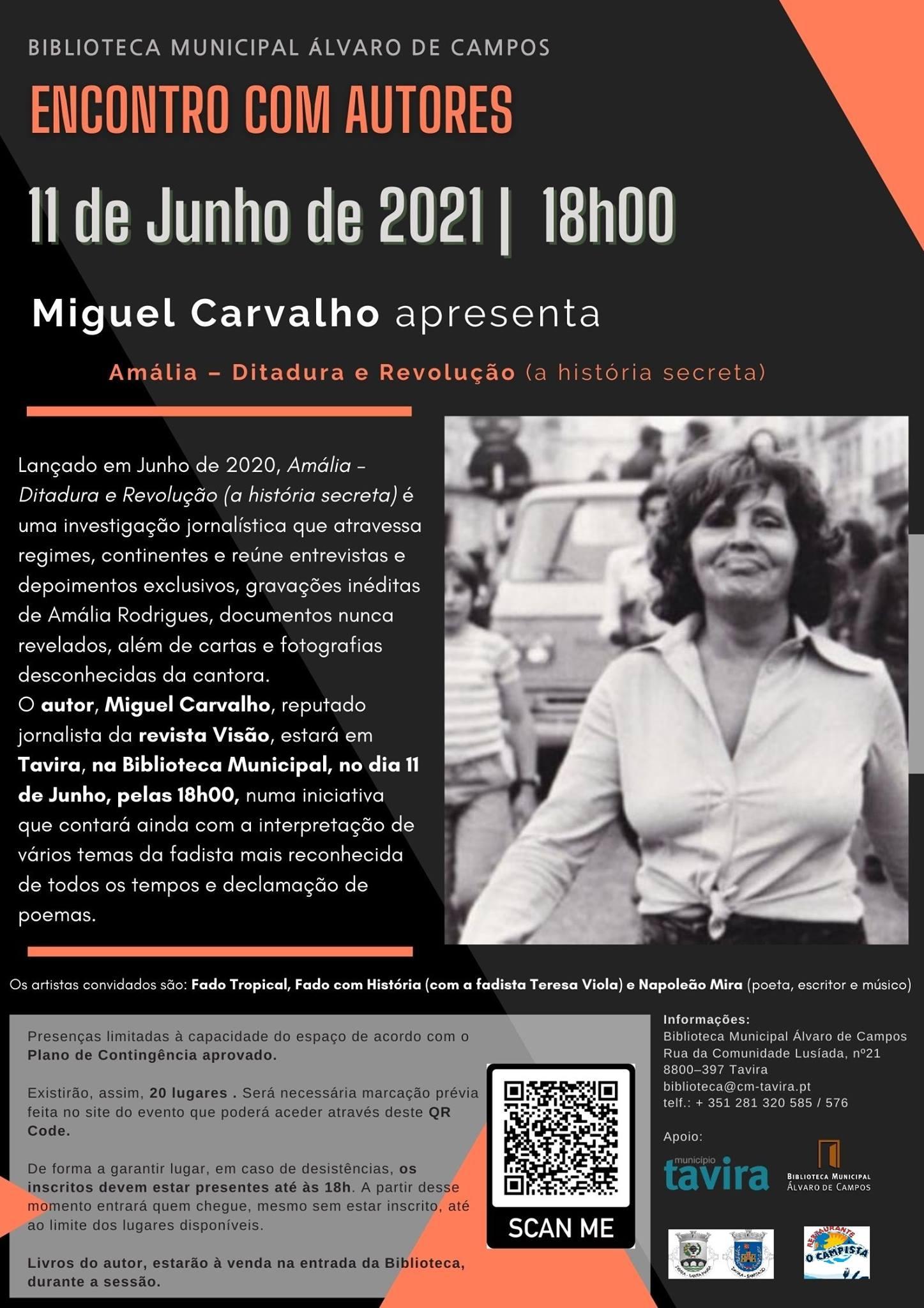 ENCONTROS COM AUTORES | Miguel Carvalho apresenta 'Amália - Ditadura e Revolução (a história secreta