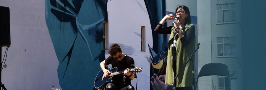 Patricia Primavera acompanhada à Guitarra por Nuno CC