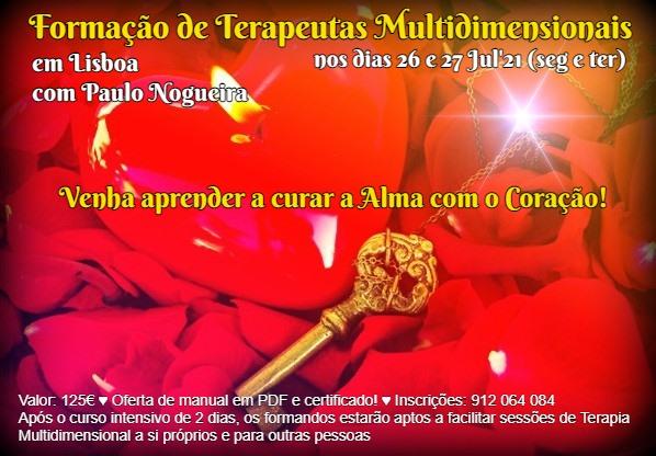 Curso de Terapia Multidimensional em Lisboa em Jul'21 à semana