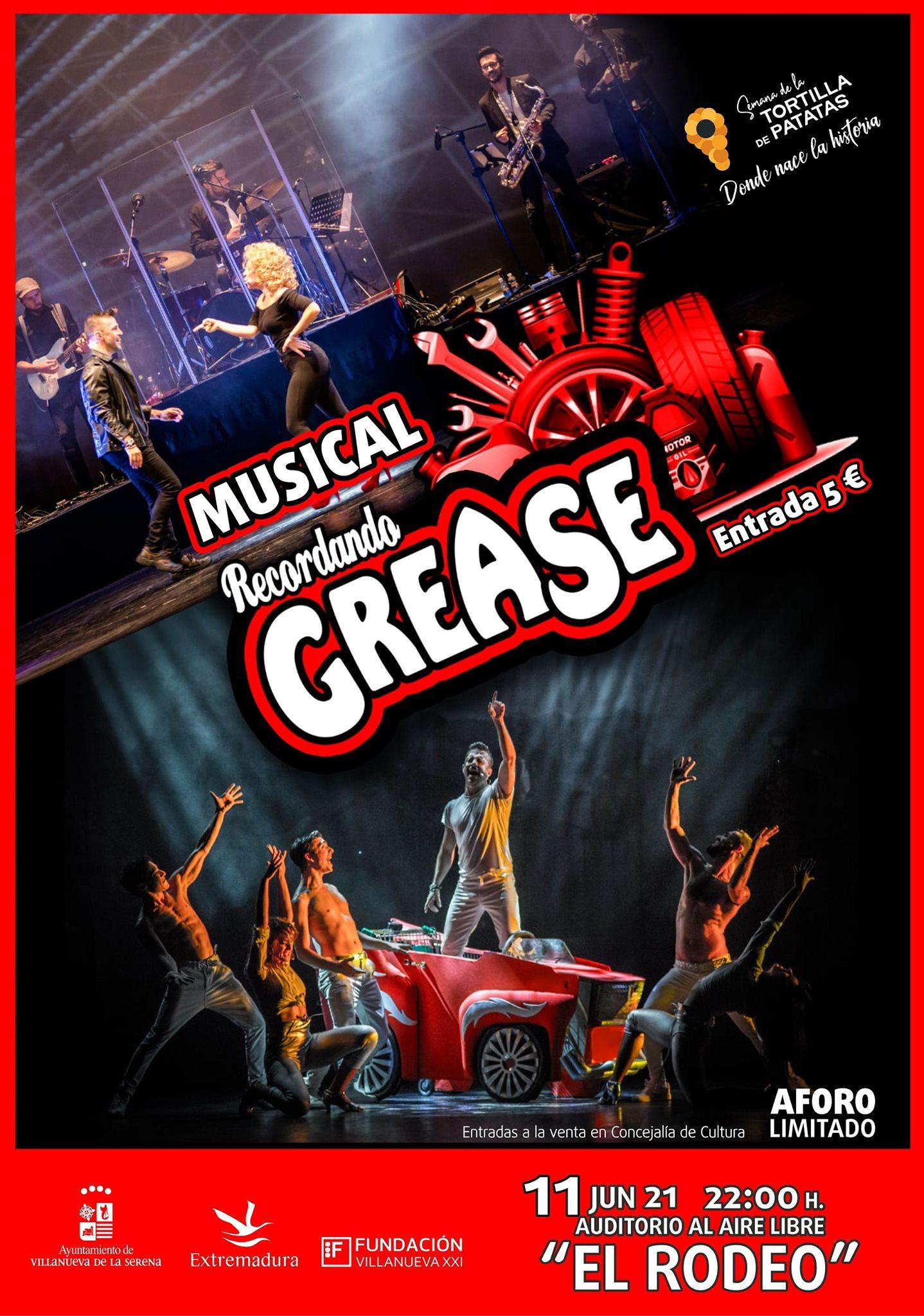 """Espectáculo musical """"Recordando a Grease"""""""