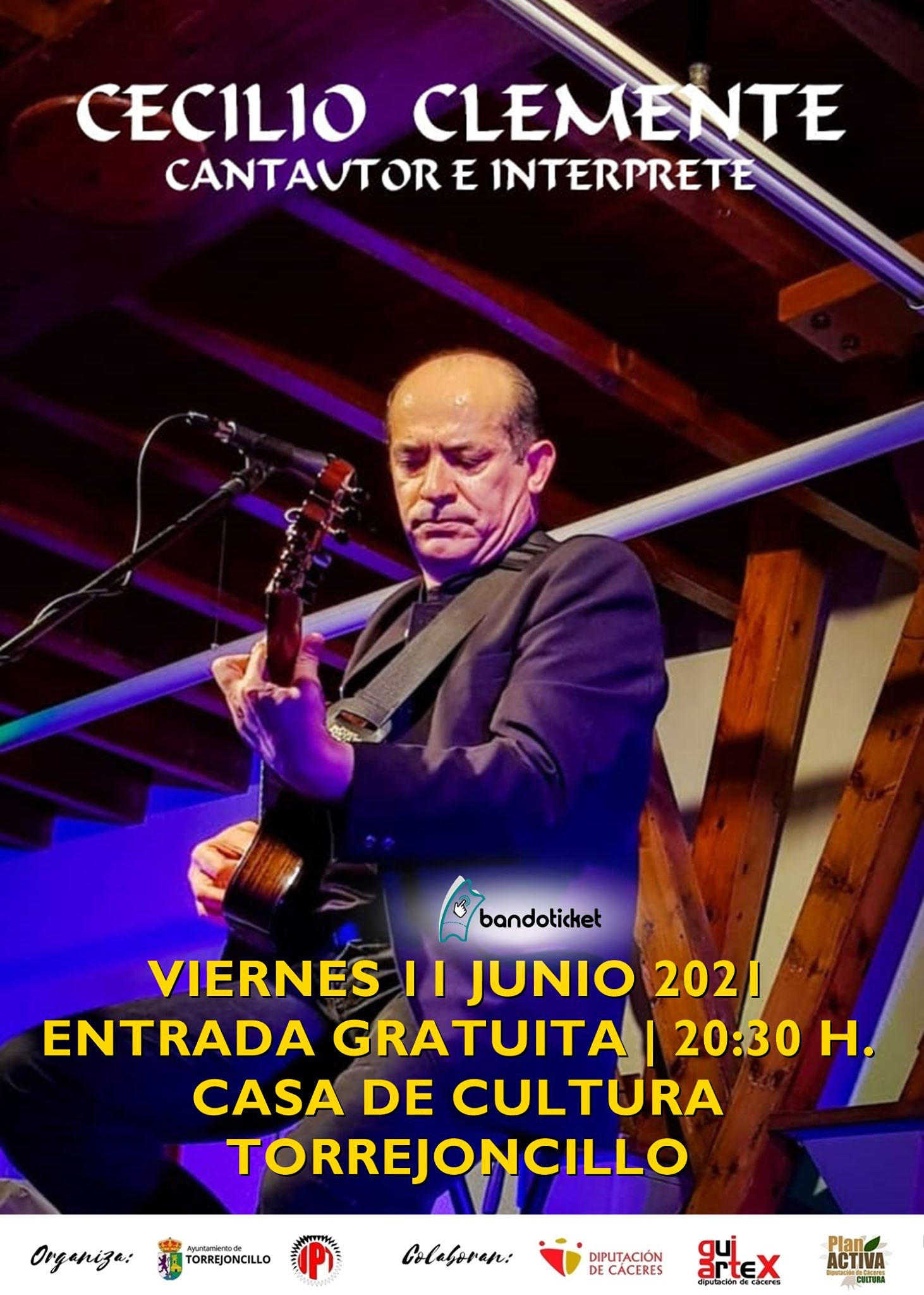 Concierto de Cecilio Clemente este viernes en Torrejoncillo