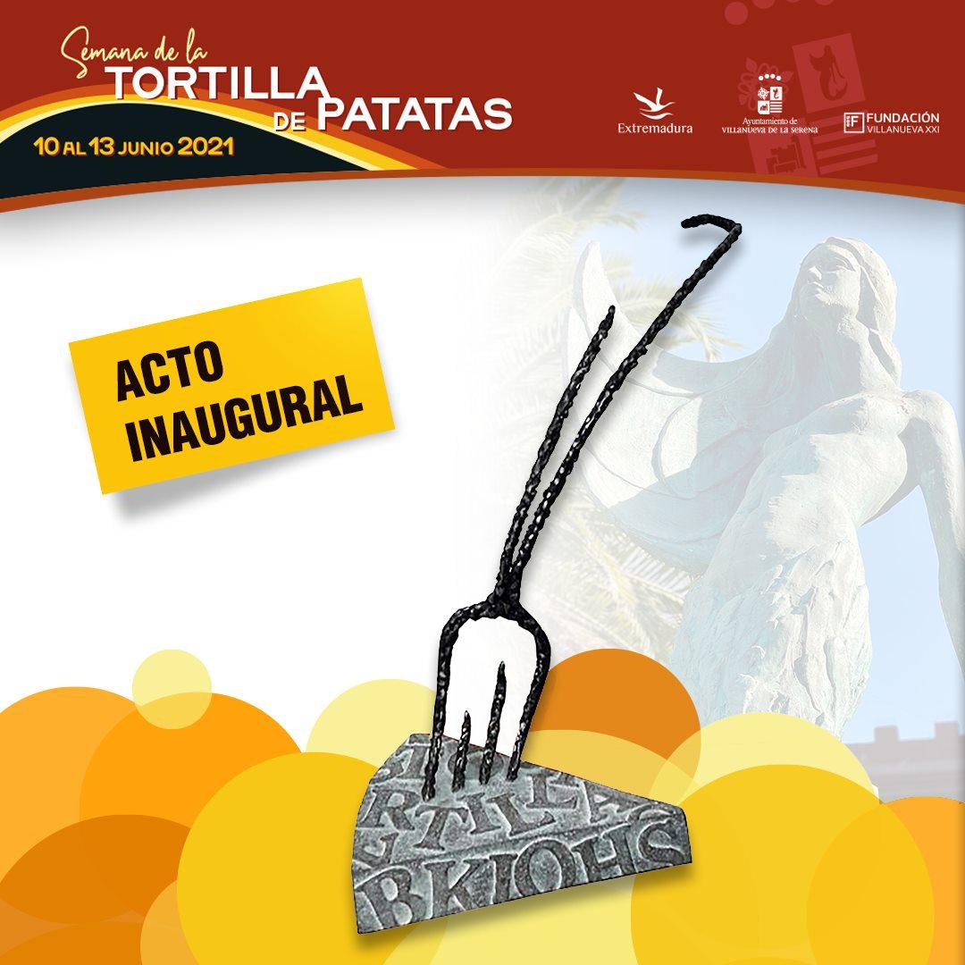 Inauguración monumento público a la Tortilla de Patatas.