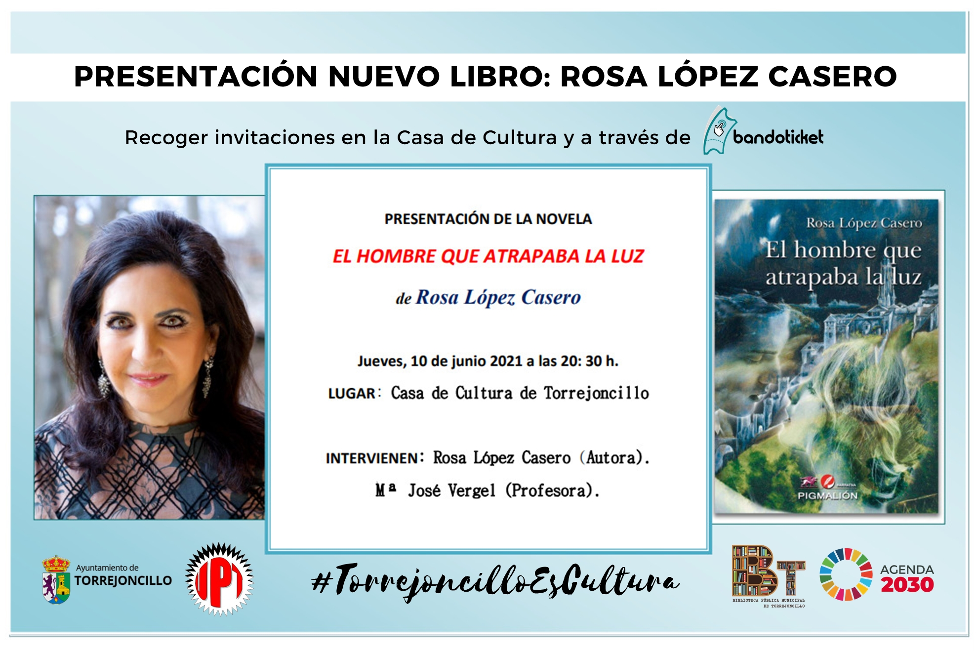 Presentación del nuevo libro de Rosa López Casero: 'El hombre que atrapaba la luz'
