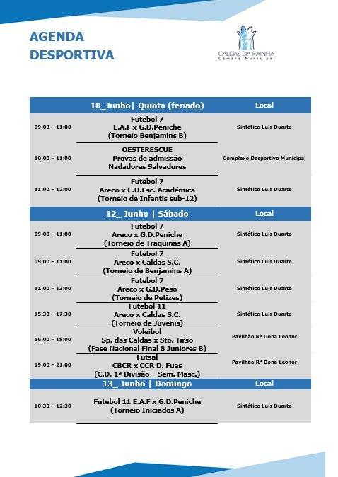 Agenda Desportiva | CMCR