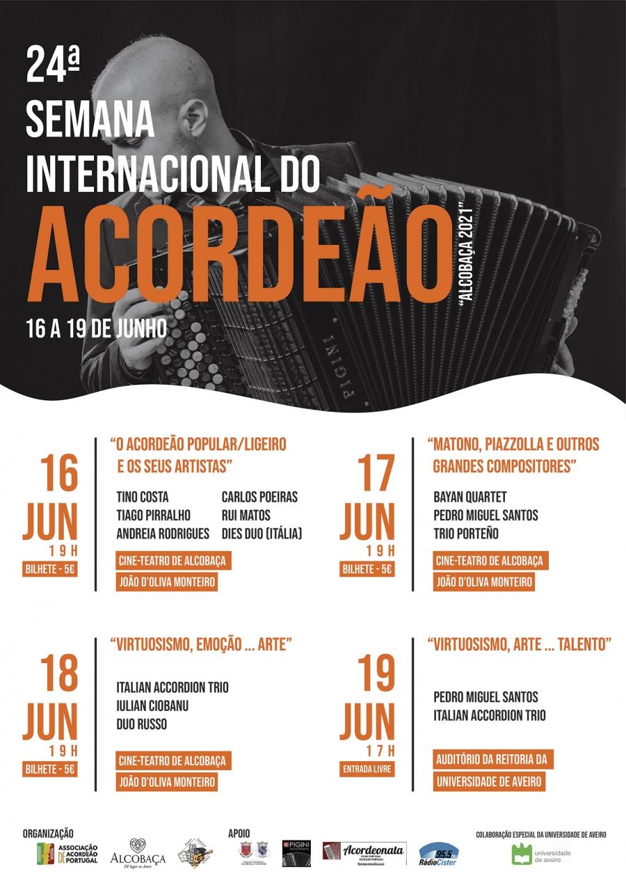 """24ª SEMANA INTERNACIONAL DO ACORDEÃO """"Alcobaça 2021"""""""