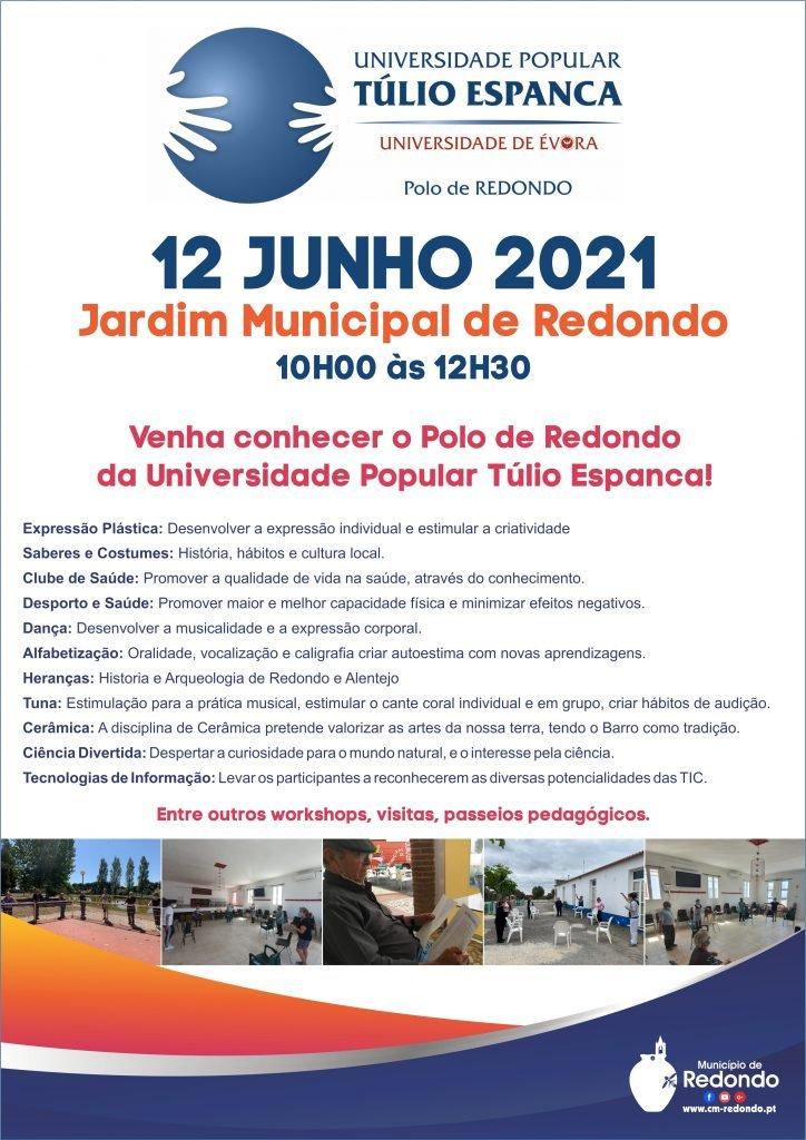 Venha conhecer o Polo de Redondo da UPTE   12 de junho   Jardim Municipal de Redondo   das 10h00 às 12h30