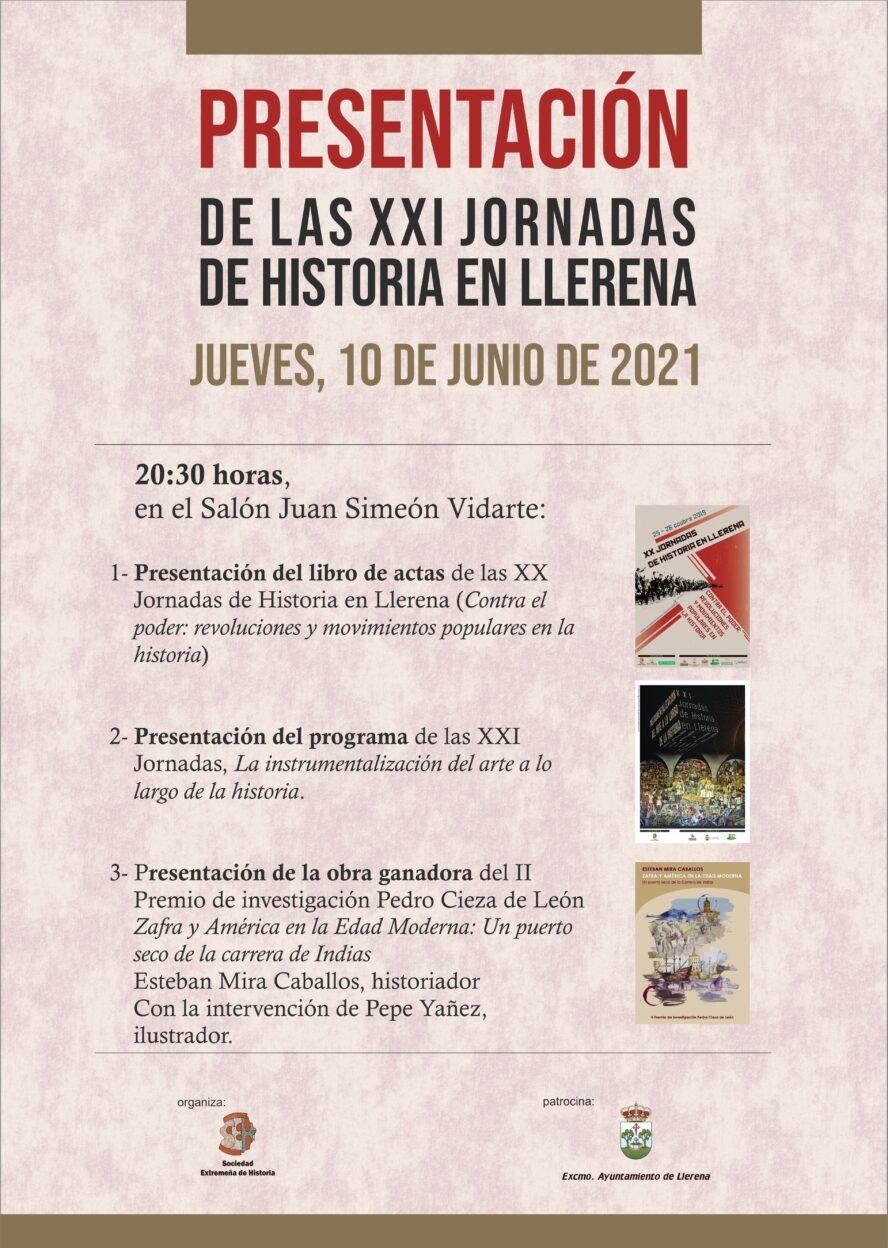 Presentación de las XXI Jornadas de Historia en Llerena