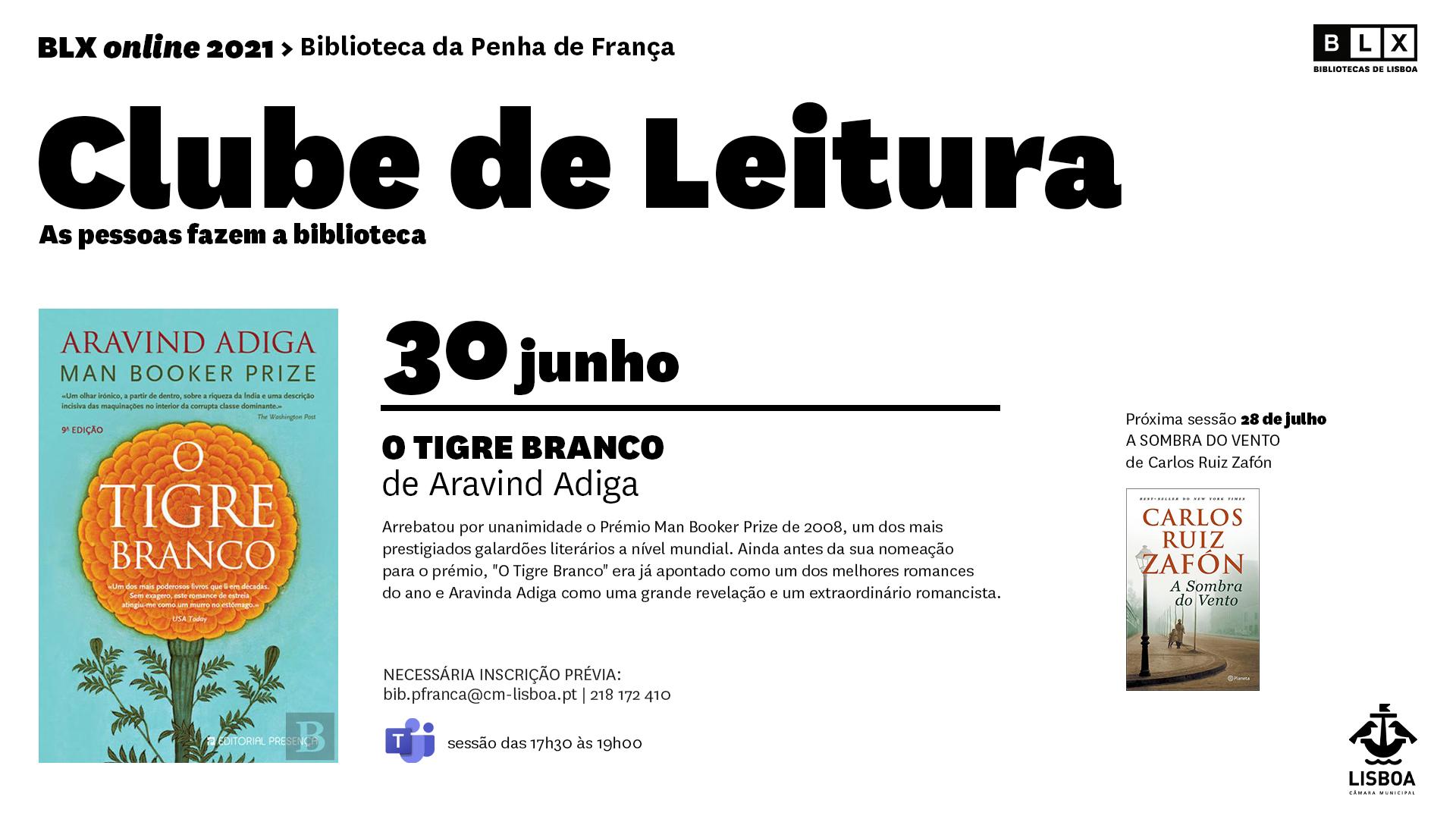 Clube de Leitura da Biblioteca Penha de França (online)