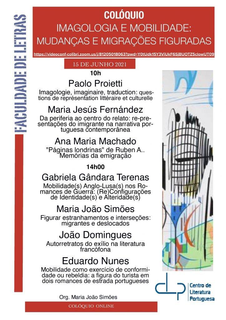 """Colóquio """"Imagologia e Mobilidade: Mudanças e Migrações Figuradas"""""""