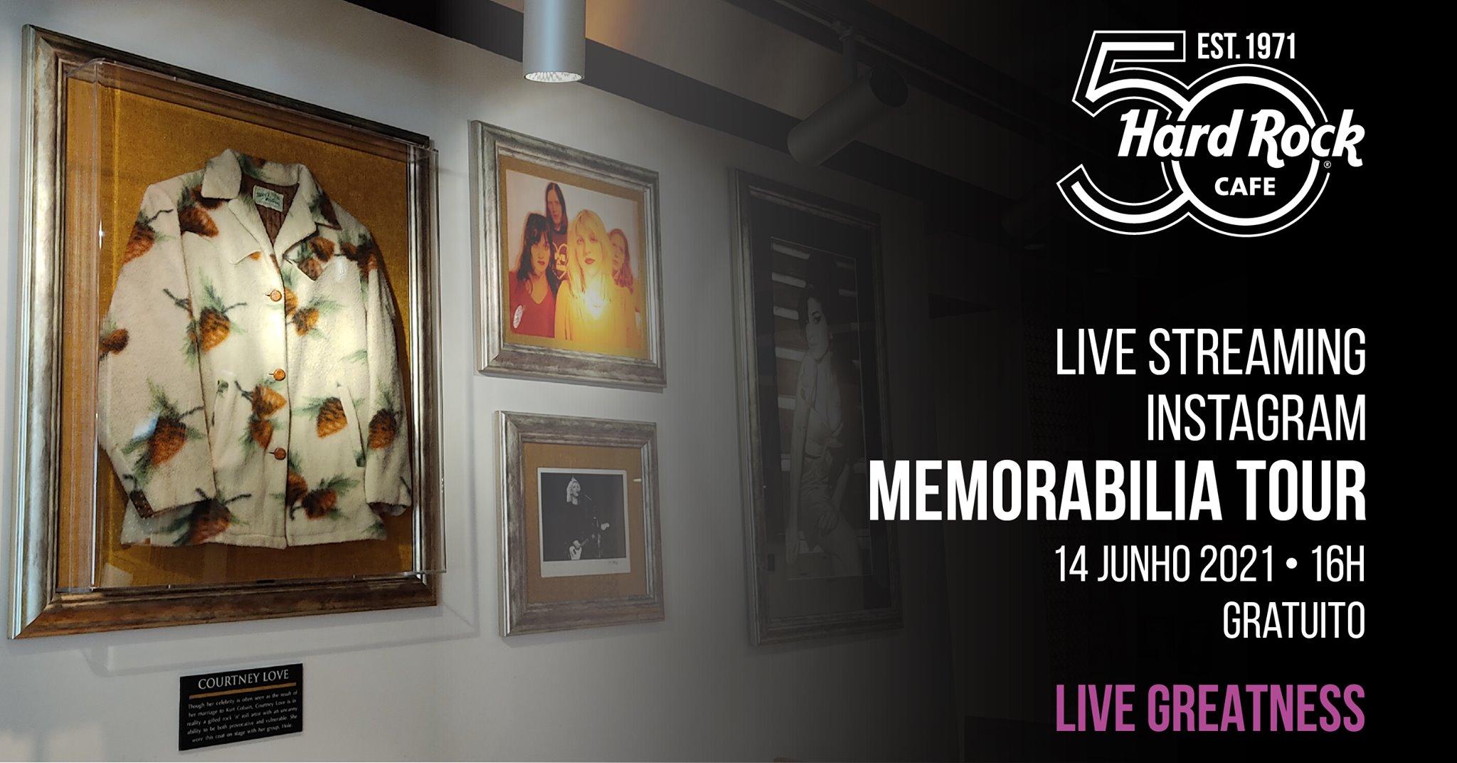 Memorabilia Tour | Live no Instagram pelo João Castro