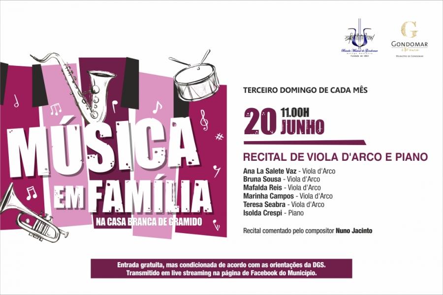 Música em Família – Recital de Viola d'Arco e Piano