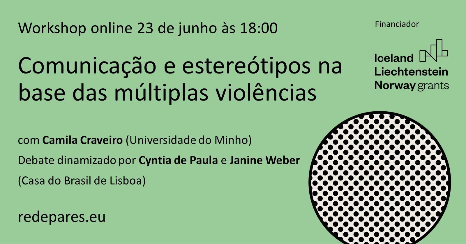Workshop Comunicação e estereótipos na base das múltiplas violências