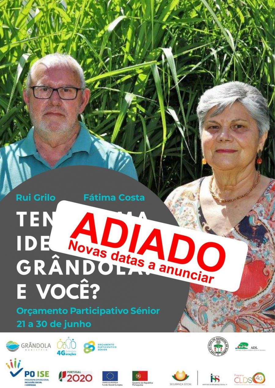 Orçamento Participativo Sénior   Tenho uma ideia para Grândola. E você ?