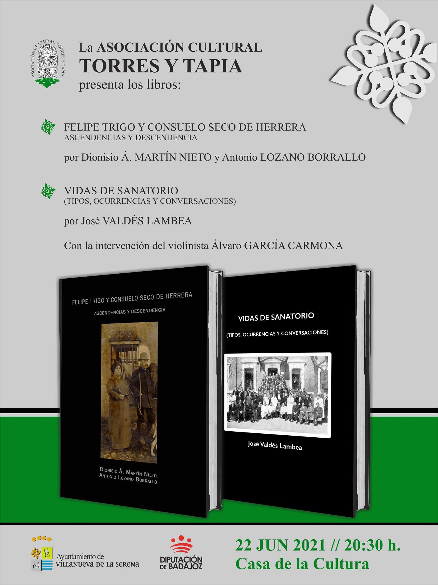 La Presentación libros de la Asociación Cultural Torres y Tapia