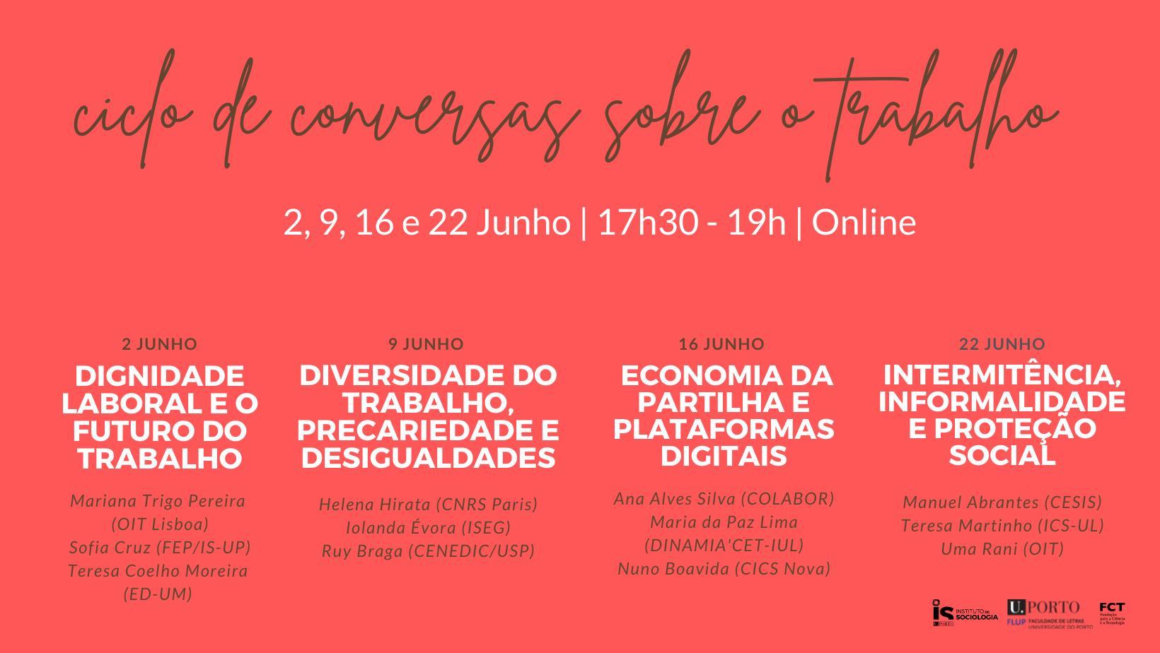 Ciclo de Conversas   Intermitência, Informalidade e Proteção Social