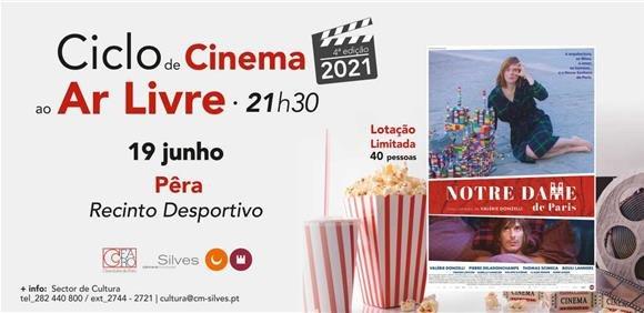 """Sessão de Cinema ao Ar Livre: Filme """"Notre Dame de París"""""""