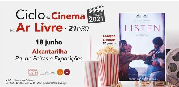 Sessão de Cinema ao Ar Livre: Filme 'Listen'
