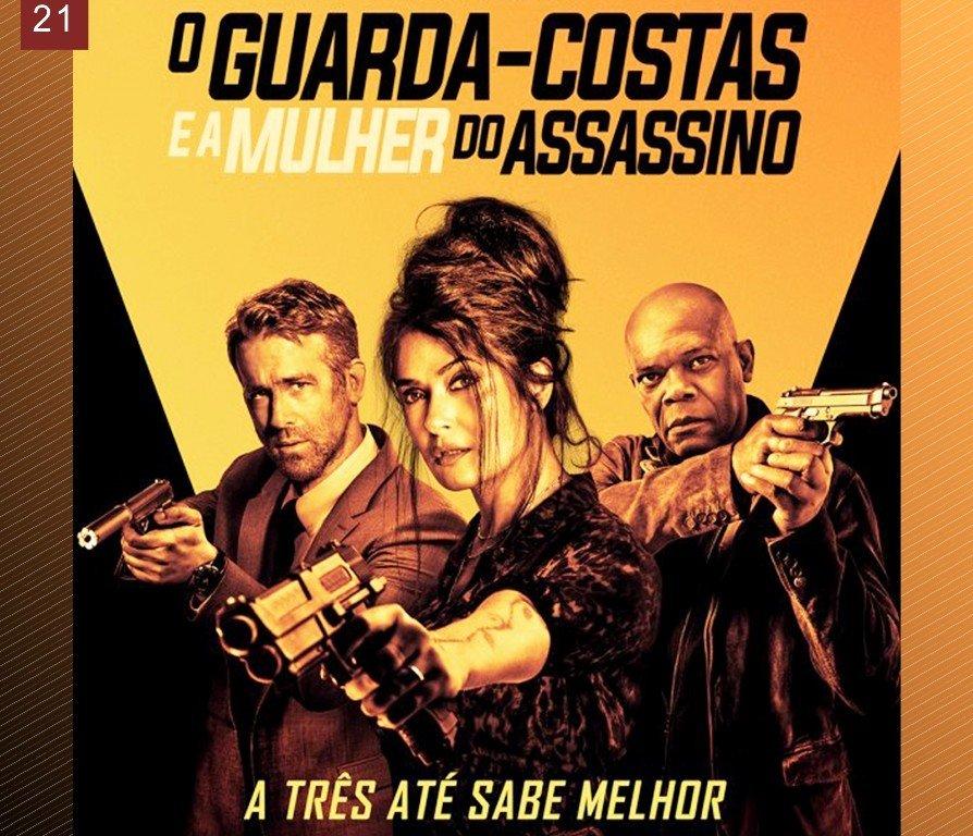 Exibição do filme 'O guarda-costas e a mulher do assassino'