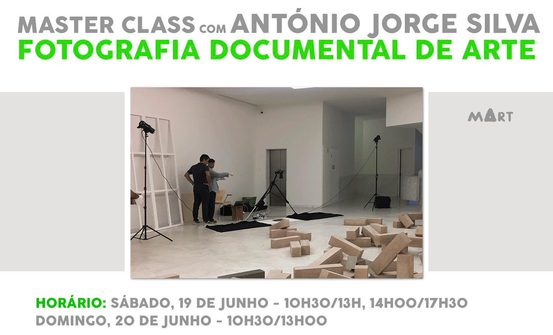 MASTER CLASS COM ANTÓNIO JORGE SILVA Fotografia Documental de Arte para Artistas Plásticos