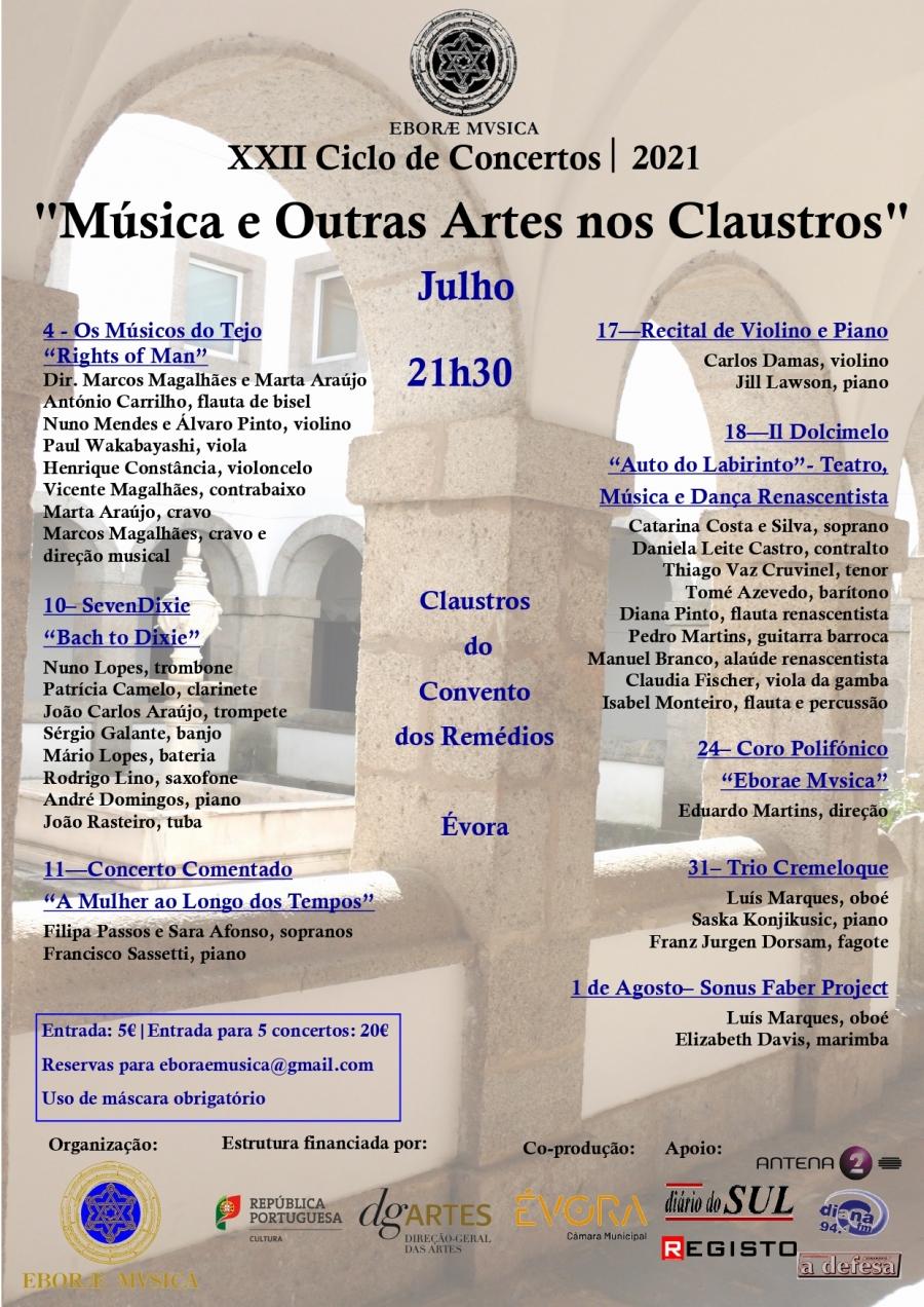 "XXI Ciclo de Concertos ""Música e outras Artes nos Claustros"""