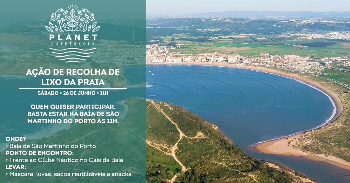 Caretakers Costa Oeste - Ação de Recolha de Lixo na Baía de São Martinho do Porto