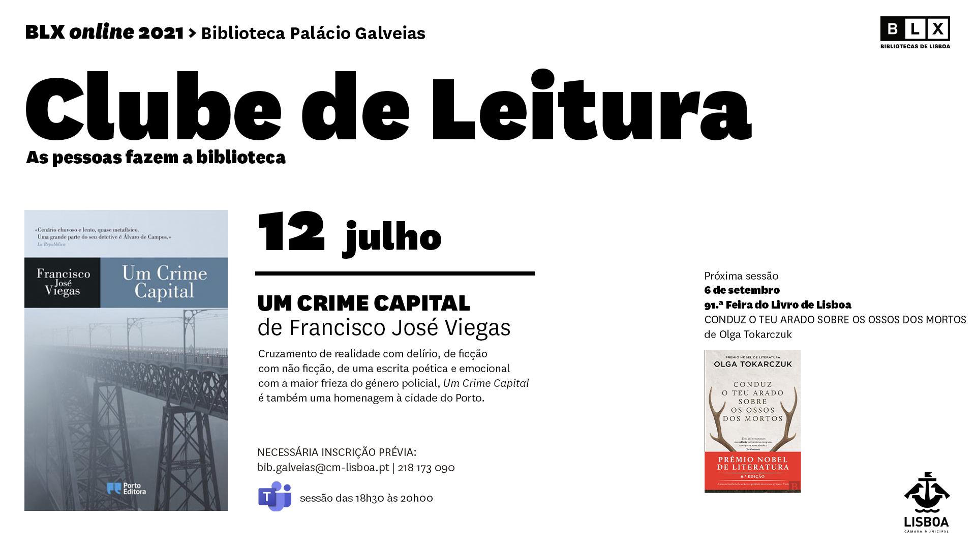 Clube de Leitura da Biblioteca Palácio Galveias (online)
