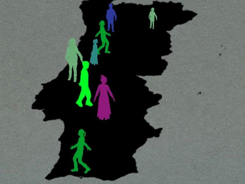 Mas que grande animação - 'Os zombies'
