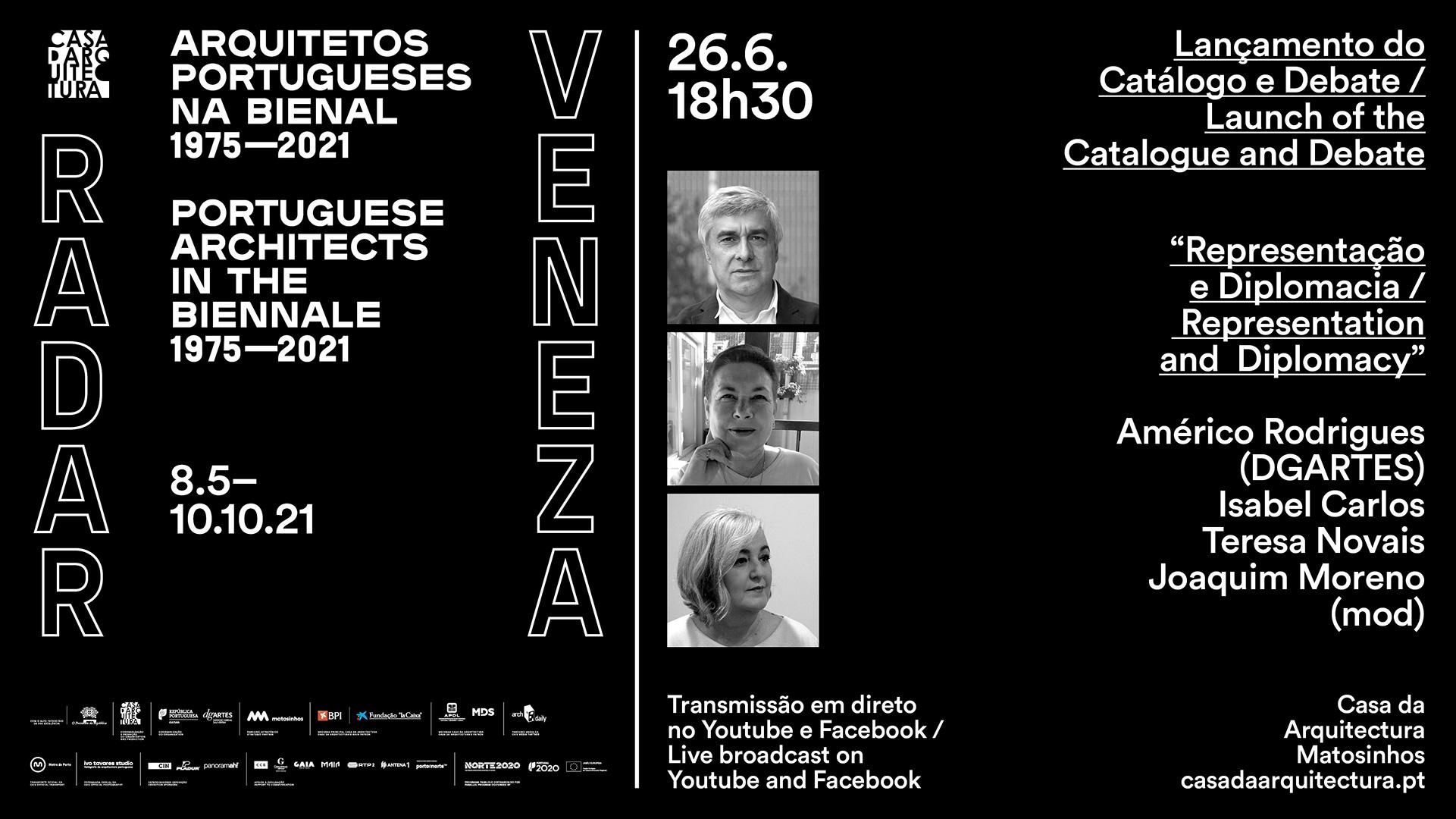 Lançamento do Catálogo Radar Veneza / Debate 'Representação e Diplomacia'