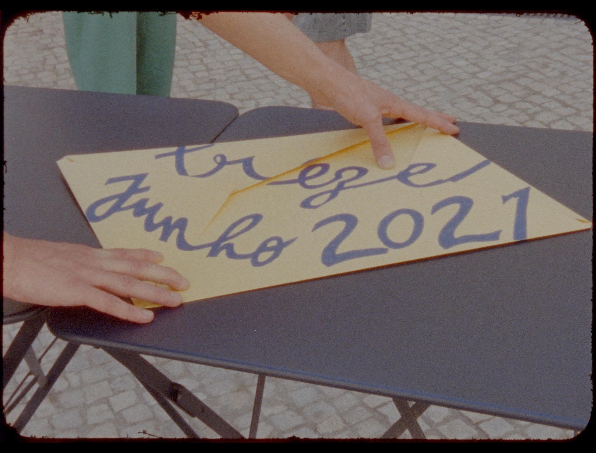 """Projeção do filme """"Encontro - Treze Junho 2021"""", de André Guedes"""