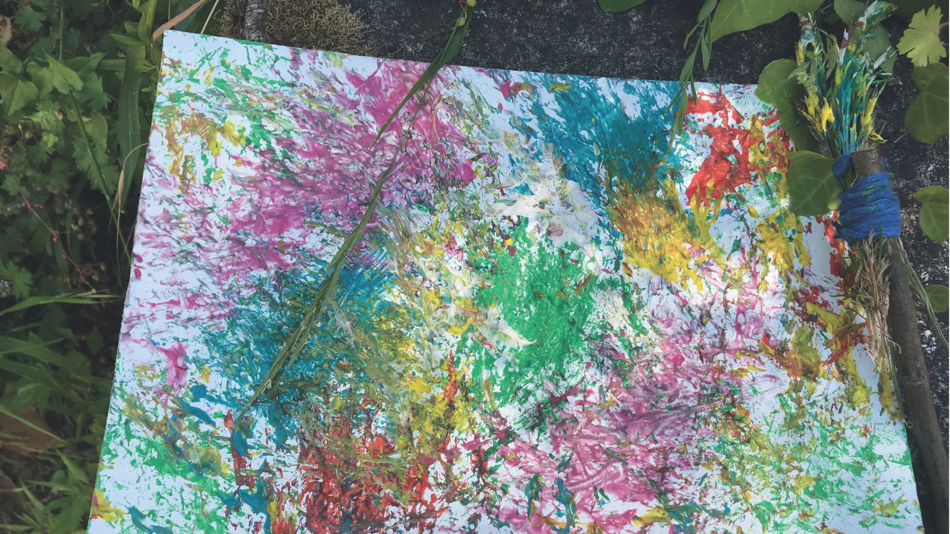 Pintar com a Natureza - Oficina de Artes Visuais para família (Esgotado) :: Bairro em Festa 2021
