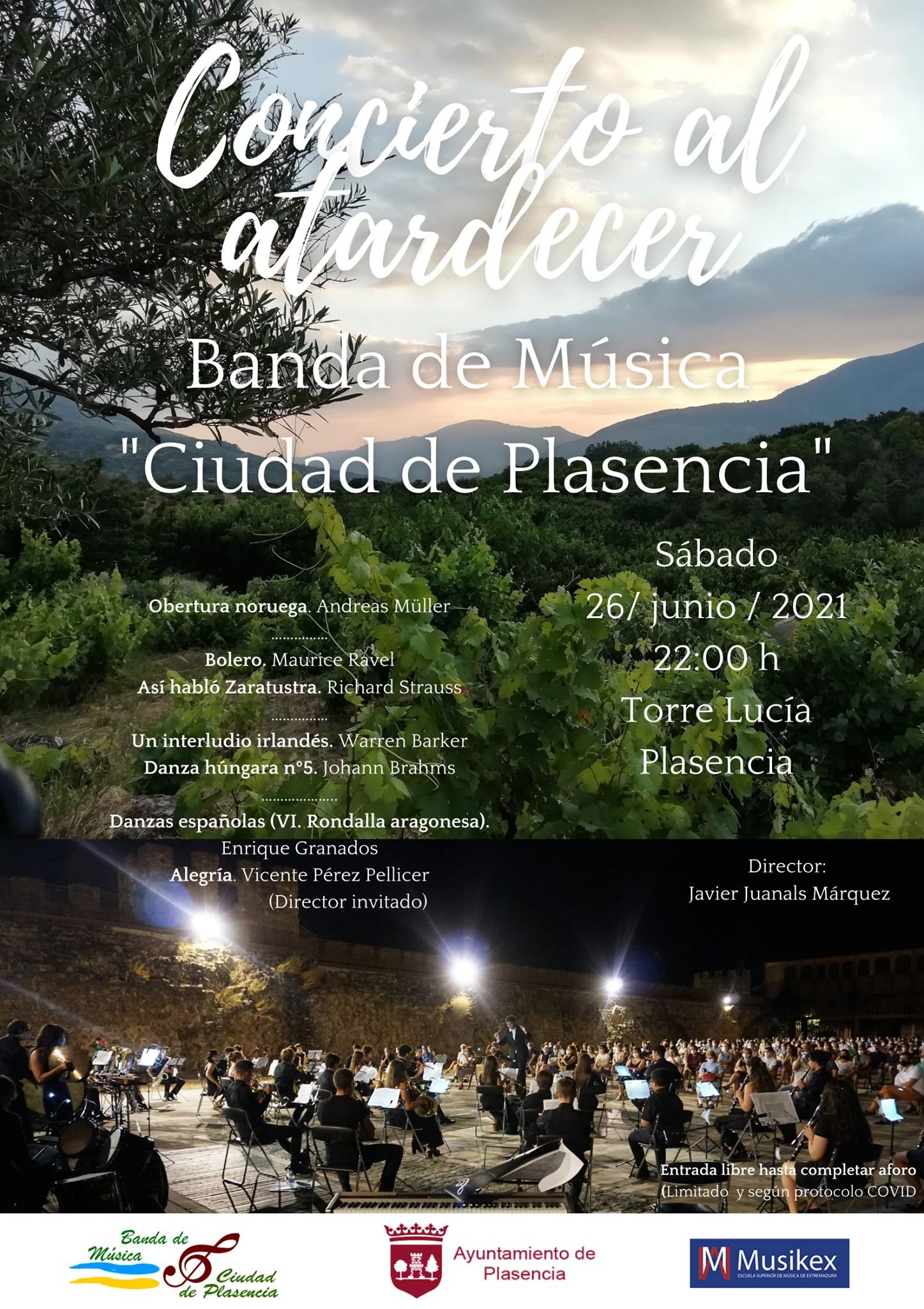 Concierto Al Atardecer - Banda de Música Ciudad de Plasencia