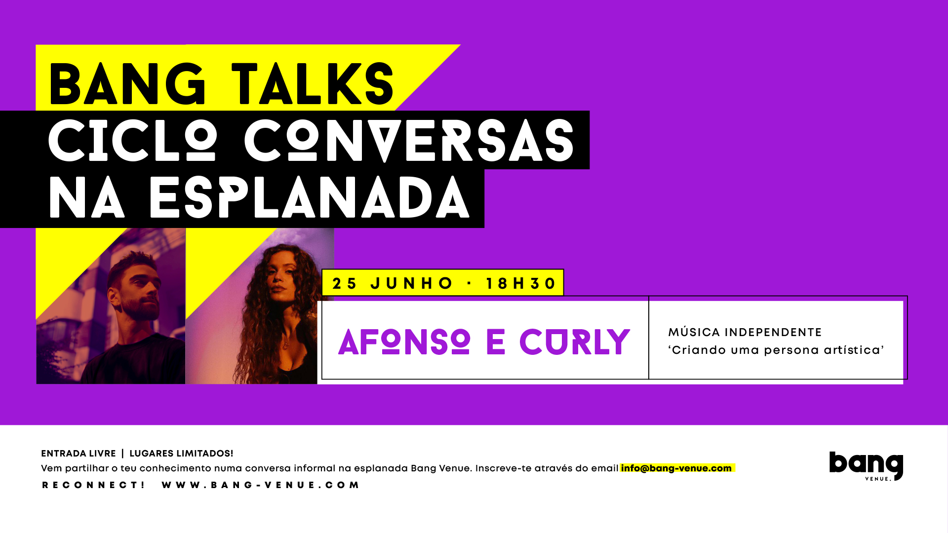 Bang Talks   Afonso e Curly   Música Independente   Entrada Livre