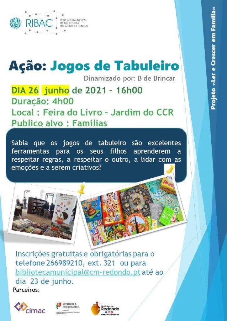 Jogos de Tabuleiro | 26 junho | 16h00 | Feira do Livro – Jardim CCR