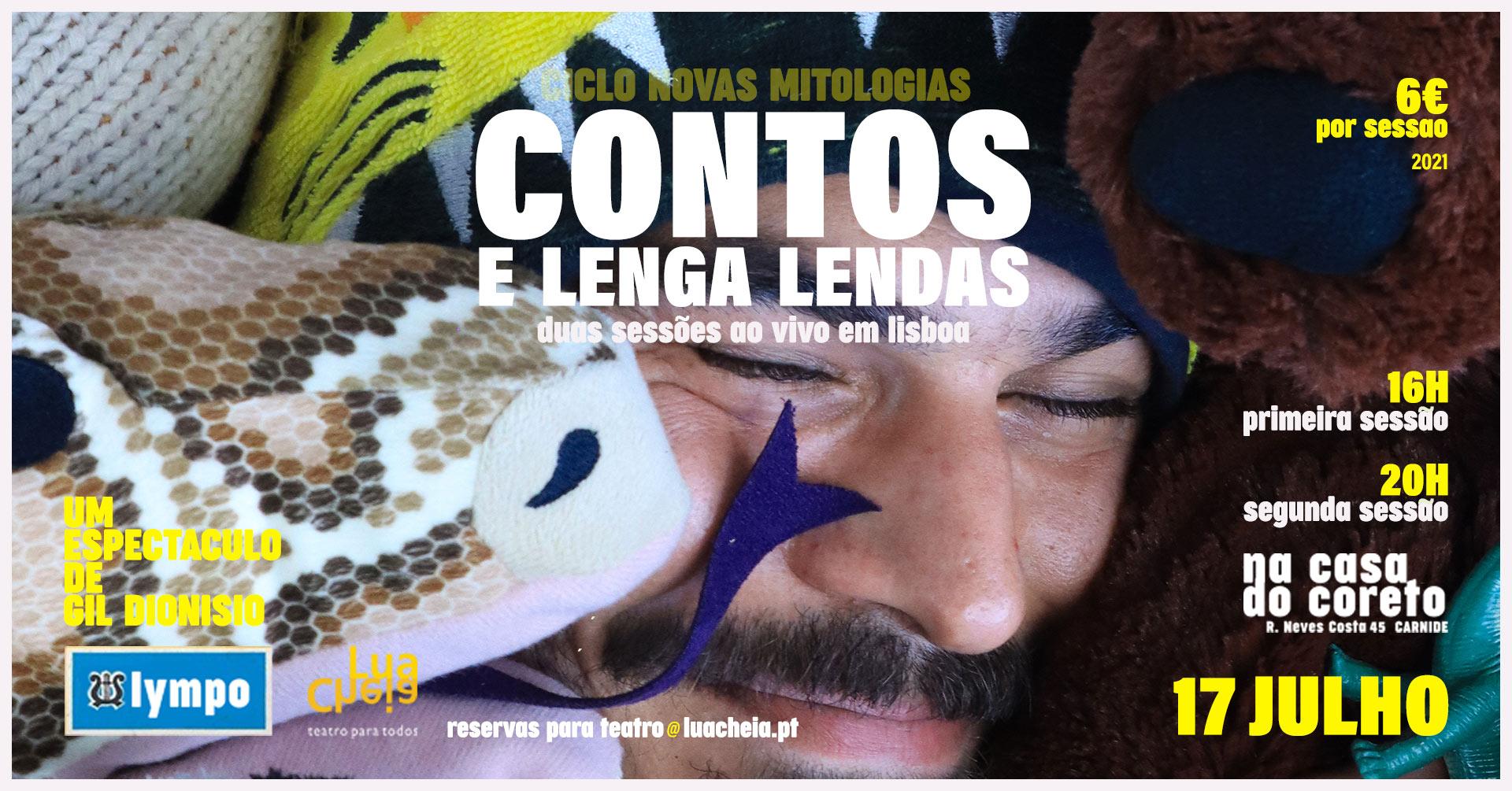 CONTOS E LENGA LENDAS de Gil Dionísio   EM LISBOA