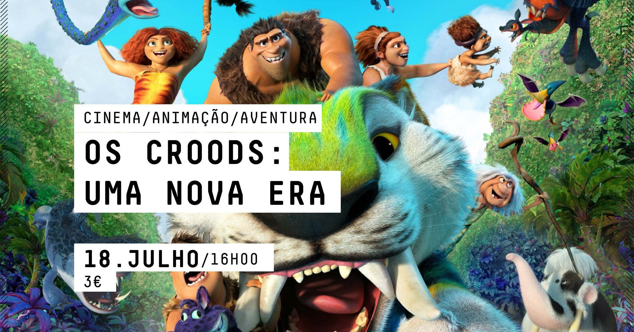 CINEMA  - OS CROODS: UMA NOVA ERA