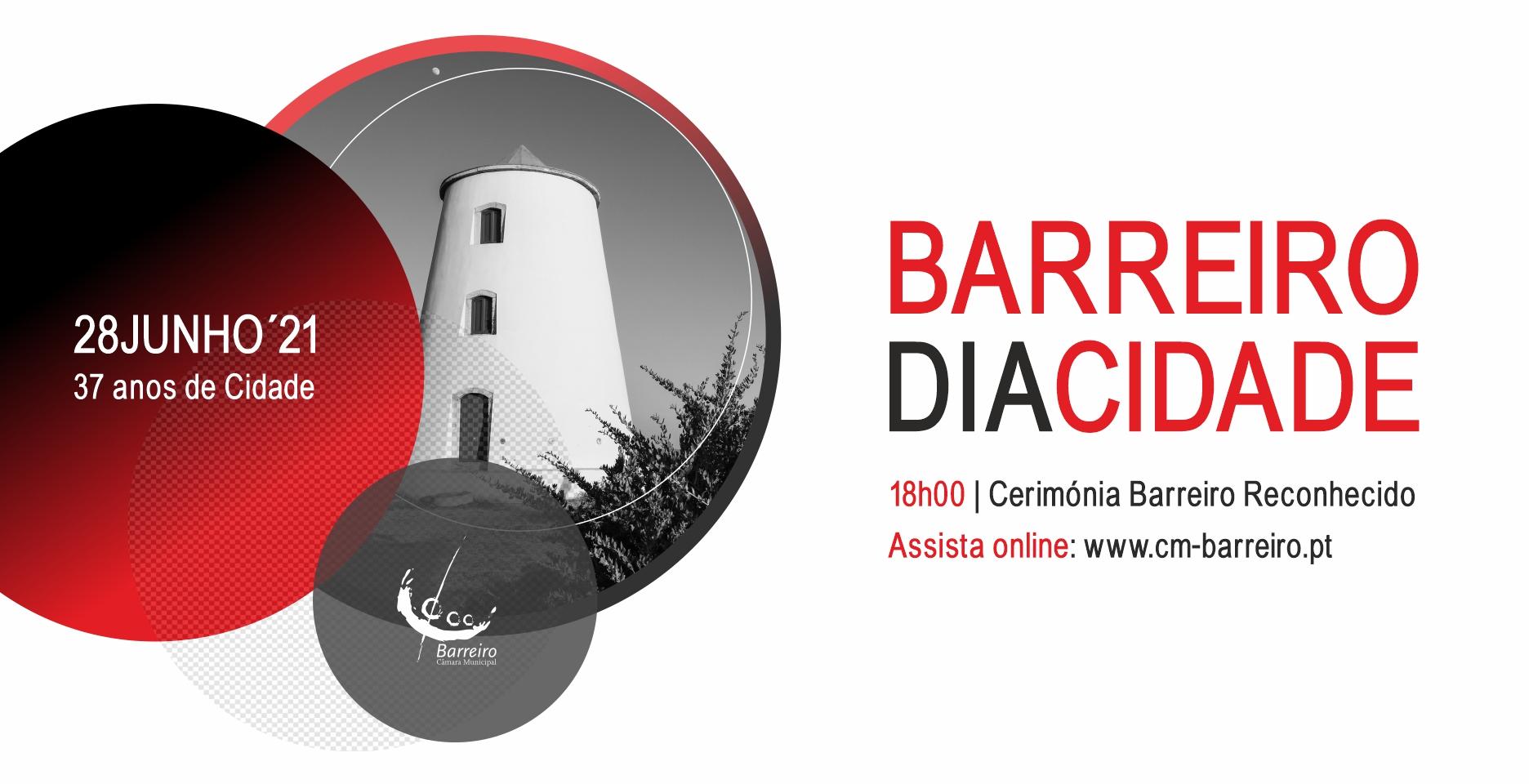 """Dia da Cidade   28 de junho Cerimónia """"Barreiro Reconhecido"""" no AMAC"""