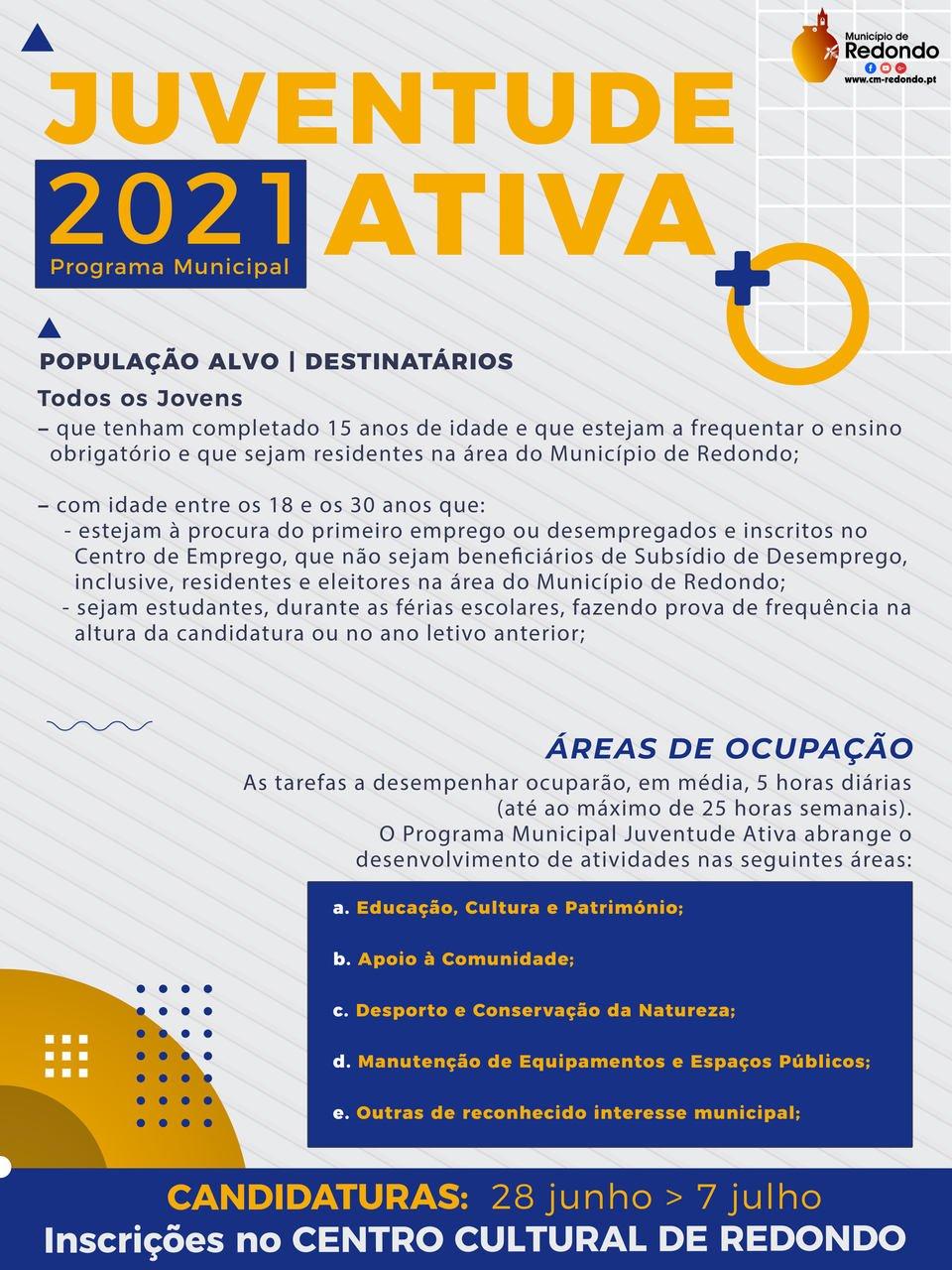Programa Municipal 2021 – Juventude Ativa